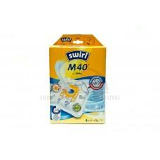 Dulkių maišeliai  SWIRL M40 4 vnt + universalus oro filtras
