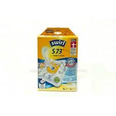 Dulkių maišeliai  SWIRL S73 4 vnt + universalus oro filtras